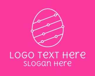 Egg - Pink Egg Tech Network logo design