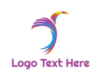 Feather - Colorful Toucan Feather logo design