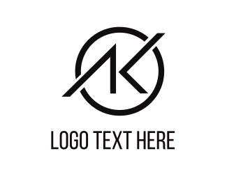 Minimal - Letter AK Combined logo design