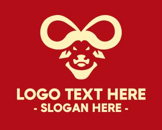 Infinity - Infinity Buffalo Bull Horns logo design