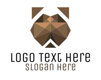 Boston Terrier - Geometric Dog logo design