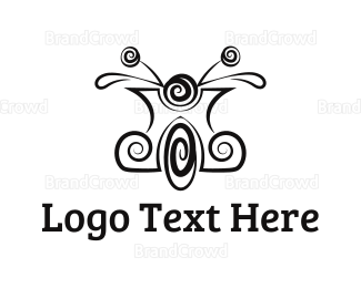 Bike Shop - Spiral Scooter logo design
