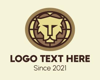 Africa - Lion Mosaic logo design