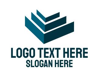 Holding - Green Pyramid logo design
