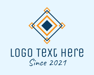 Textile - Diamond Square Tile logo design
