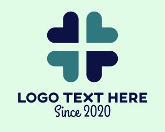Clover - Heart Flower logo design