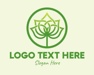 Palm - Palm Leaf Emblem logo design