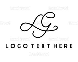 Calligraphy - Luxury Letter L&G logo design