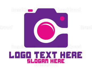 Photographer - Purple Fashion Photographer logo design