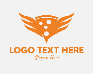 Hot - Hot Pizza Wings logo design