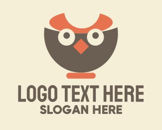Quail - Owl Bowl logo design