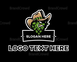 Cowboy - Artichoke Gangster logo design