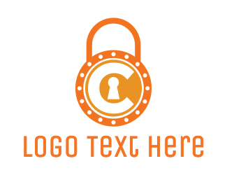 Padlock - Orange Padlock C  logo design