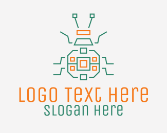 Advanced Technology - Robotic Beetle Insect  logo design