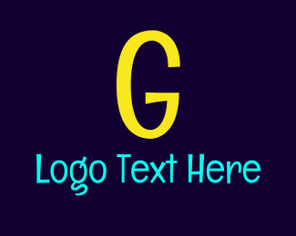 Blue And Yellow - Bright Yellow G logo design