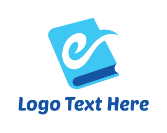 Professor - Blue E Book logo design