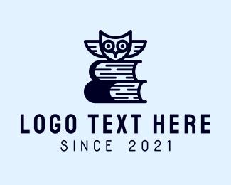Review - Owl Book Librarian logo design