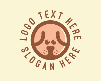 Kennel - Puppy Dog Circle logo design