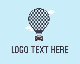 Hot Air Balloon - Camera & Ballon logo design
