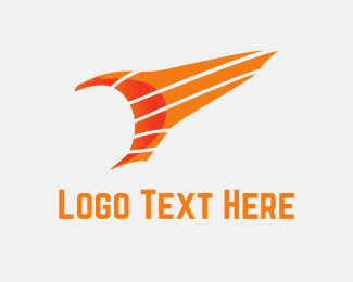 Aviation - Orange Eagle logo design