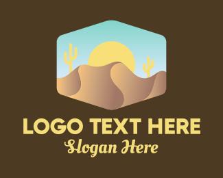 Sand Dunes - Sand Dune Desert  logo design