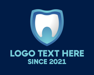Teeth - Dental Teeth Shield logo design