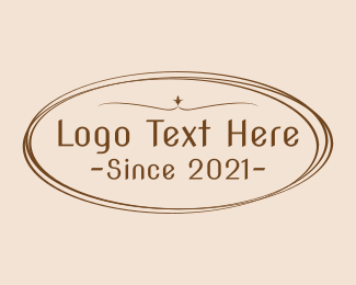 Text - Coffee Shop Badge Wordmark logo design