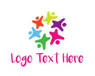 Playful - Colorful Kids logo design