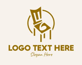 Furniture Shop - Brown Chair logo design