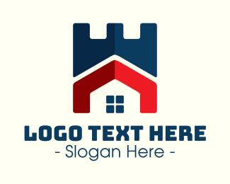 Rook - Modern Castle House logo design