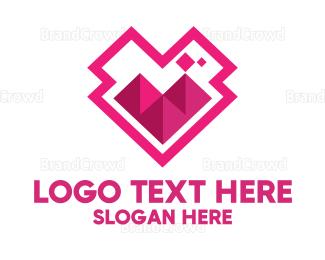 Egyptian - Pink Pyramid Icon logo design