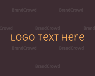 Tan - Friendly Handwritten Text logo design