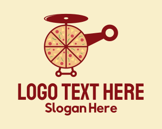Helicopter - Pizza Delivery Helicopter logo design