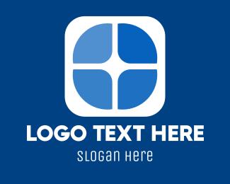 Marketing - Blue Marketing Window logo design