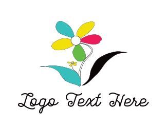 Daisy - Colorful Flower logo design