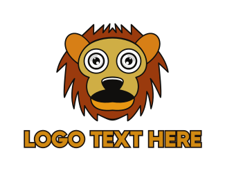 Cartoon - Cartoon Lion Outline logo design