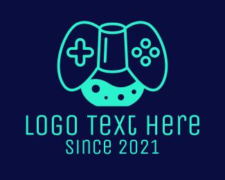 Neon Green - Chemist Game Console logo design