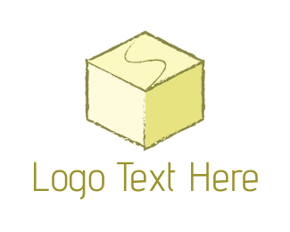Dice - Yellow Cube logo design