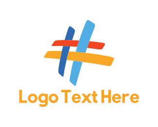 Tag - Colorful Hashtag logo design