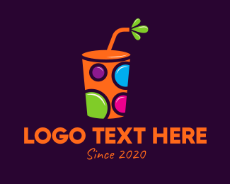 Colored - Colorful Reusable Drink Cup logo design