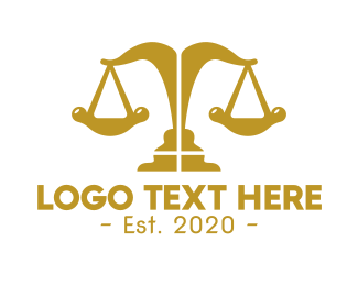 Attorney - Elegant Modern Justice  logo design