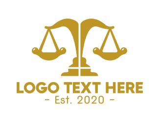 Justice - Elegant Modern Justice logo design