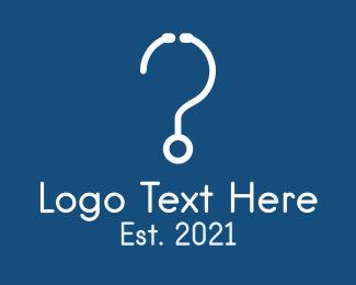 Question Mark - Stethoscope Question Mark logo design