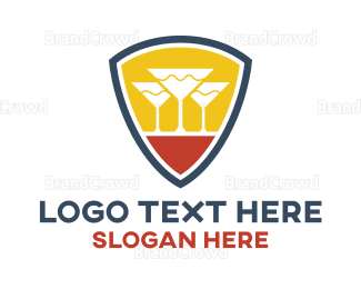 Winery - Cocktail Shield logo design