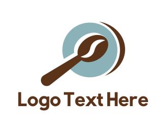 Spoon - Coffee Bean Spoon logo design