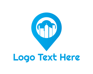 Urban - Blue Urban Pin logo design
