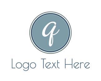 Cursive - Cursive Q Circle logo design