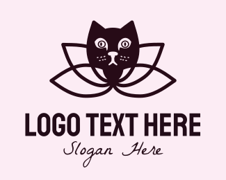 Lotus Flower - Lotus Cat logo design