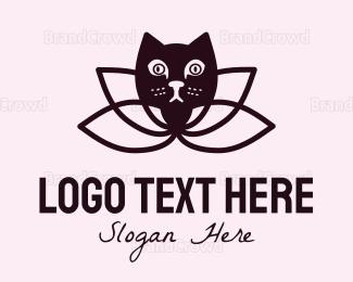 Adorable - Lotus Cat logo design