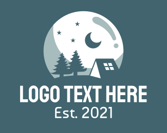 Camping Site - Night Camping Site logo design